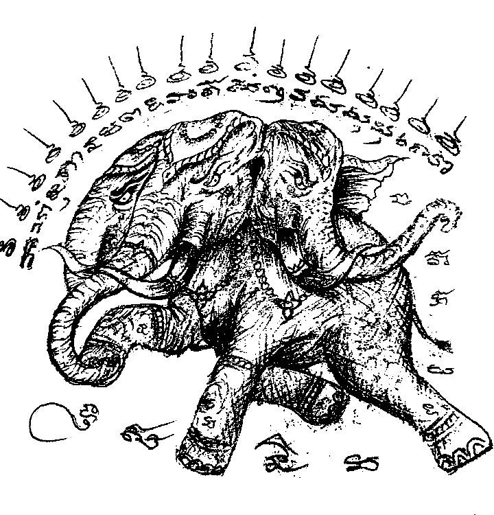 佛牌介绍 象神纹身手稿 法力泰国刺符 欣赏 佛牌知道 象神佛牌专区
